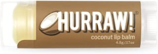 product image for Hurraw! Coconut Lip Balm, 4.8g/.17oz: Organic, Certified Vegan, Cruelty and Gluten Free. Non-GMO, 100% Natural Ingredients. Bee, Shea, Soy and Palm Free. Made in USA