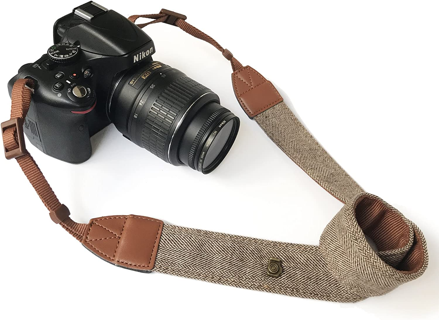 LIFEMATE Woven Vintage Soft Camera Strap Belt for All DSLR Camera Nikon,Pentax Fujifilm and Digital Camera Sony Neck Shoulder Camera Strap for Canon Geometry 1