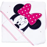 babycalin Disney Parure de Bain 80X80 cm Minnie Patchwork Rose