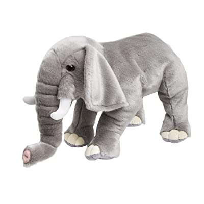 FAO Schwarz Plush Elephant Stuffed Animal, 18 Inches, Grey: Toys & Games