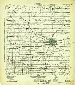 Amazon Com Yellowmaps Van Wert Oh Topo Map 1 62500 Scale