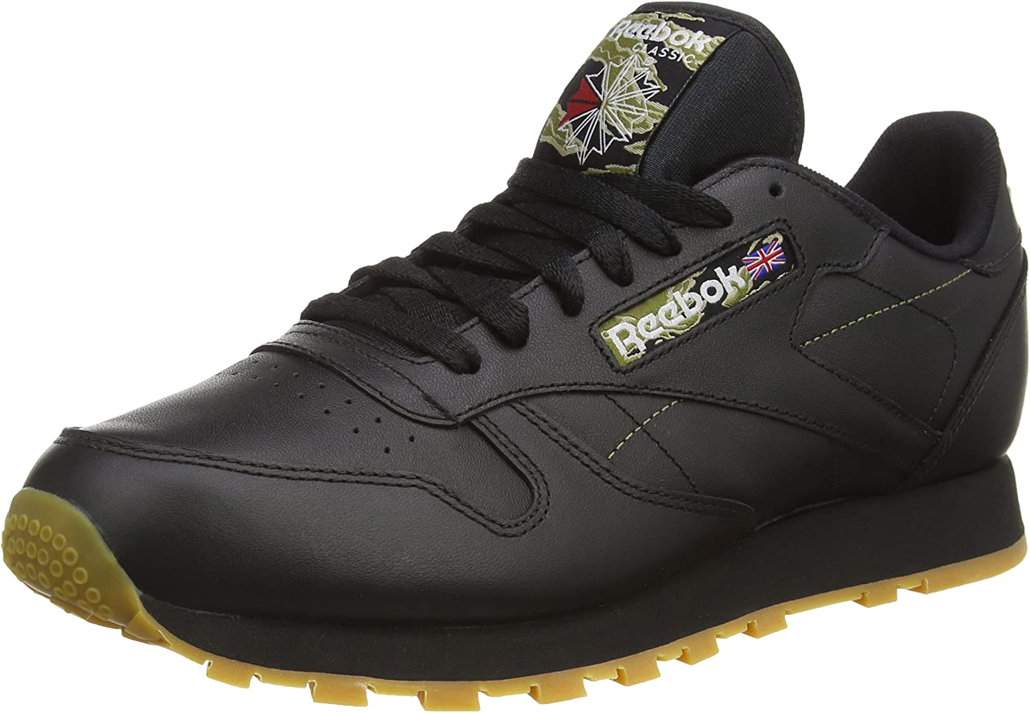 famosa marca de diseñador Boutique en ligne mitad de descuento Reebok Men's Cl Leather Tiger Camo Low-Top Sneakers, Black (Black/Warm  Olive/Oatmeal/RBK Rubber Gum/White), 13 UK: Amazon.co.uk: Shoes & Bags