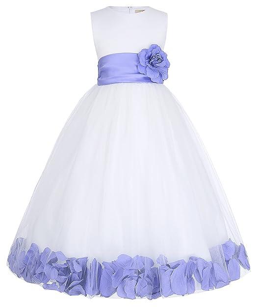 Niñas Vestido Floral sin Mangas de Princesa de Fiesta de Cóctel Vestido de Boda para Niña
