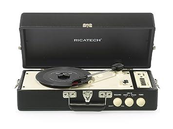 Ricatech RTT98 - Tocadiscos (USB, SD, AUX), diseño Vintage, color ...