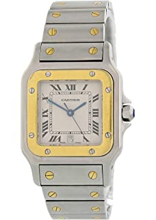6ce70d68ff923 Amazon.com: Cartier Women's W20012C4 Santos 18K Gold and Stainless ...