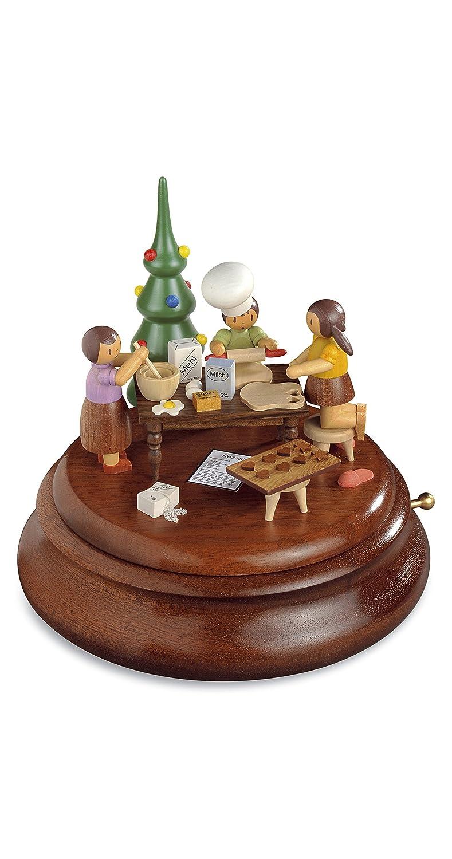Caja de música electrónica, panadería de Navidad Rolf Zuchowski, Original de los Montes Metálicos (Erzgebirge) Hecho por la Empresa Muuml;ller del Pueblo de Seiffen