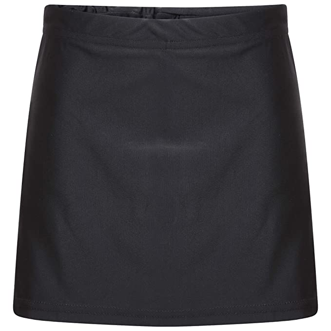School Girls Black Skort Sports Outer Skirt and Base Layer Soft Stretch Fabric