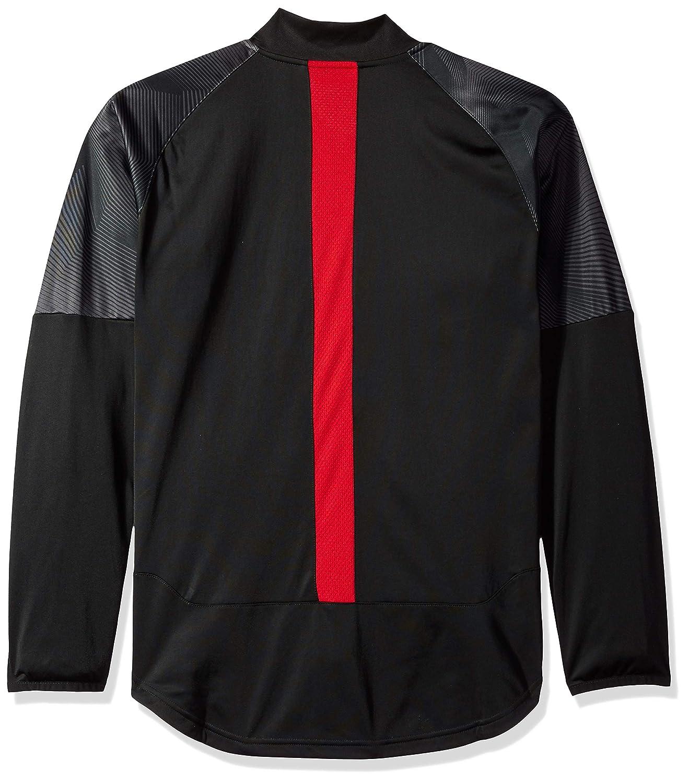 Black//Tango red X-Large PUMA Mens Standard AC Milan Stadium Poly Jacket with Sponsor Logo