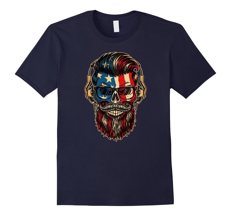 American Beard Skull T-Shirt