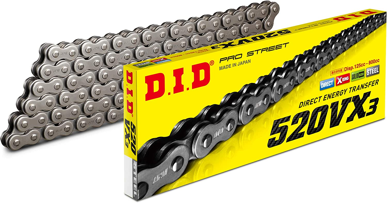 DID 520 VX3 x 128 Link Black X-Ring Motorcycle Drive Chain