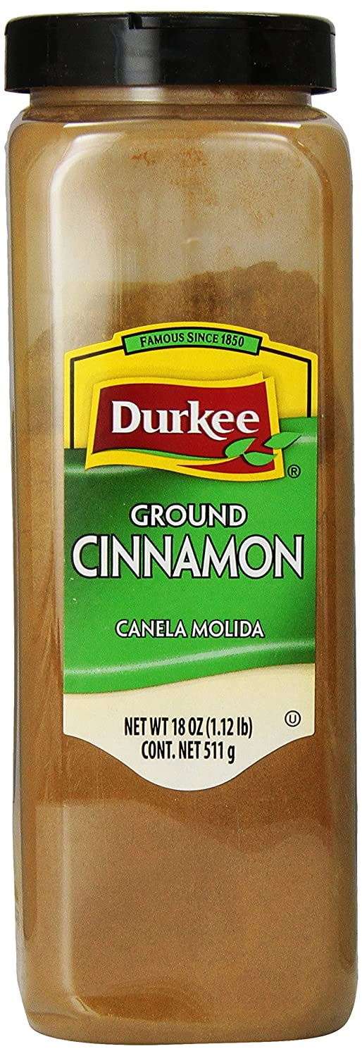 Amazon.com : Durkee Ground Cinnamon, 18-Ounce Containers (Pack of 2) : Cinnamon Spices And Herbs : Grocery & Gourmet Food