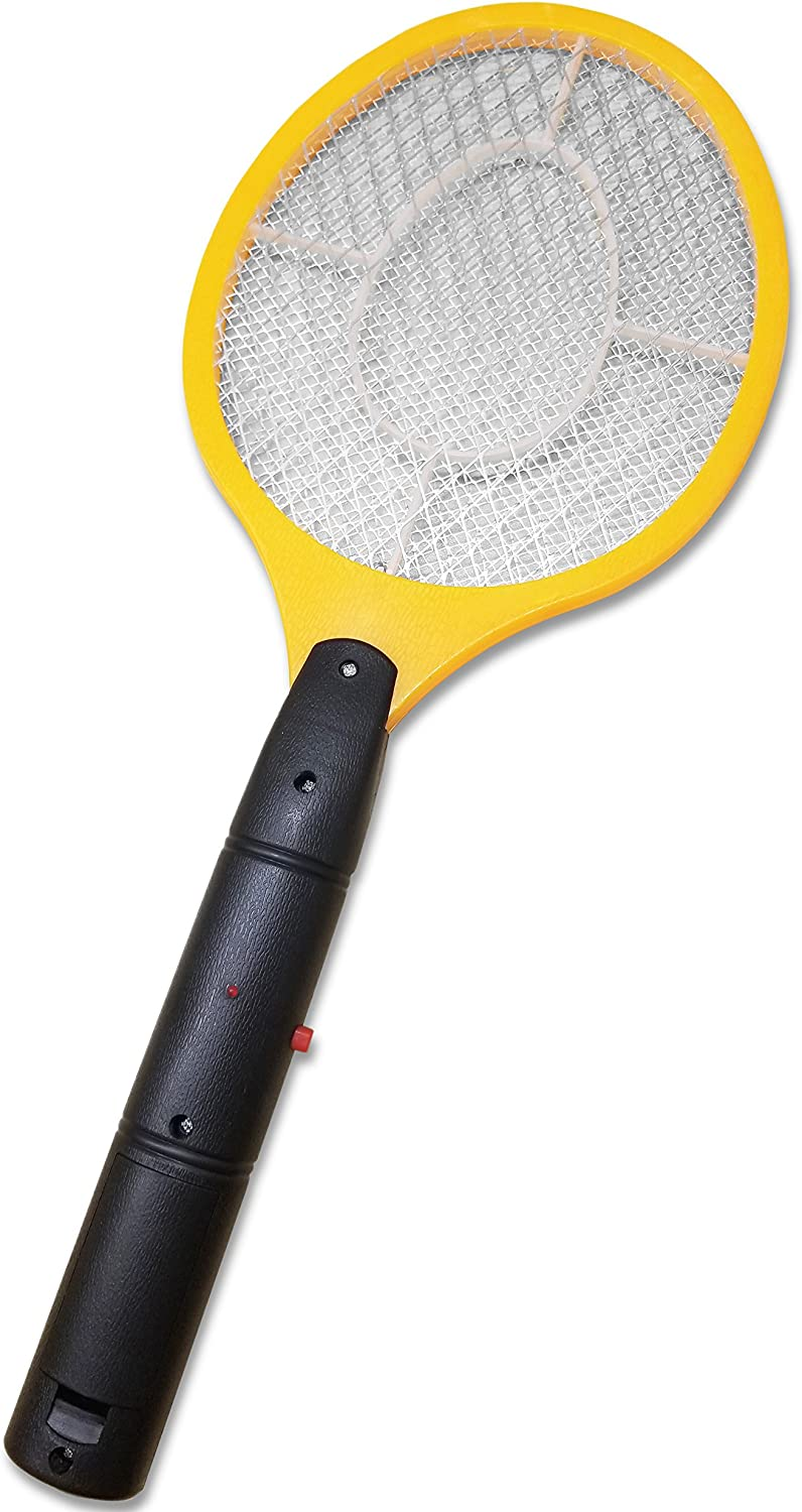 Decor Hut Electric Bug Zapper Fly Swat Pest Control Handheld Yellow Large Battery Operated Kills on Contact Indoor /& Outdoor use