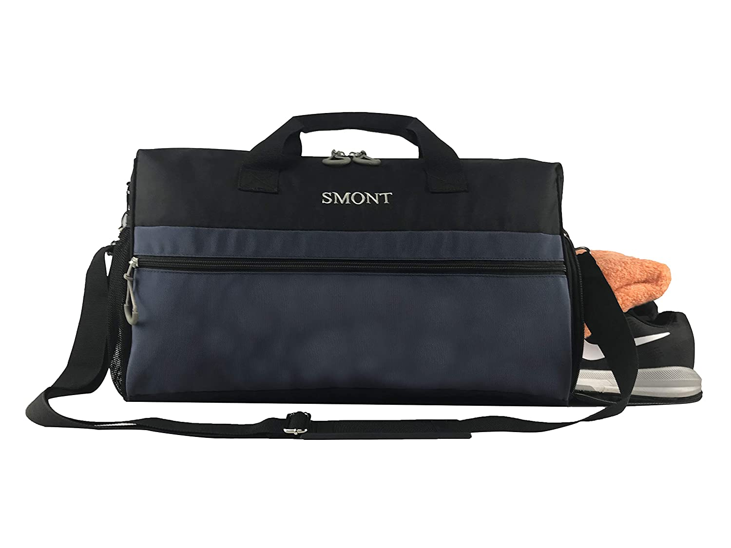 Amazon.com  SMONT Sports Gym Bag with Wet Pocket   Shoes Compartment Travel  Duffel Bag for Men and Women Black  SunmountDirect 1d295909e4