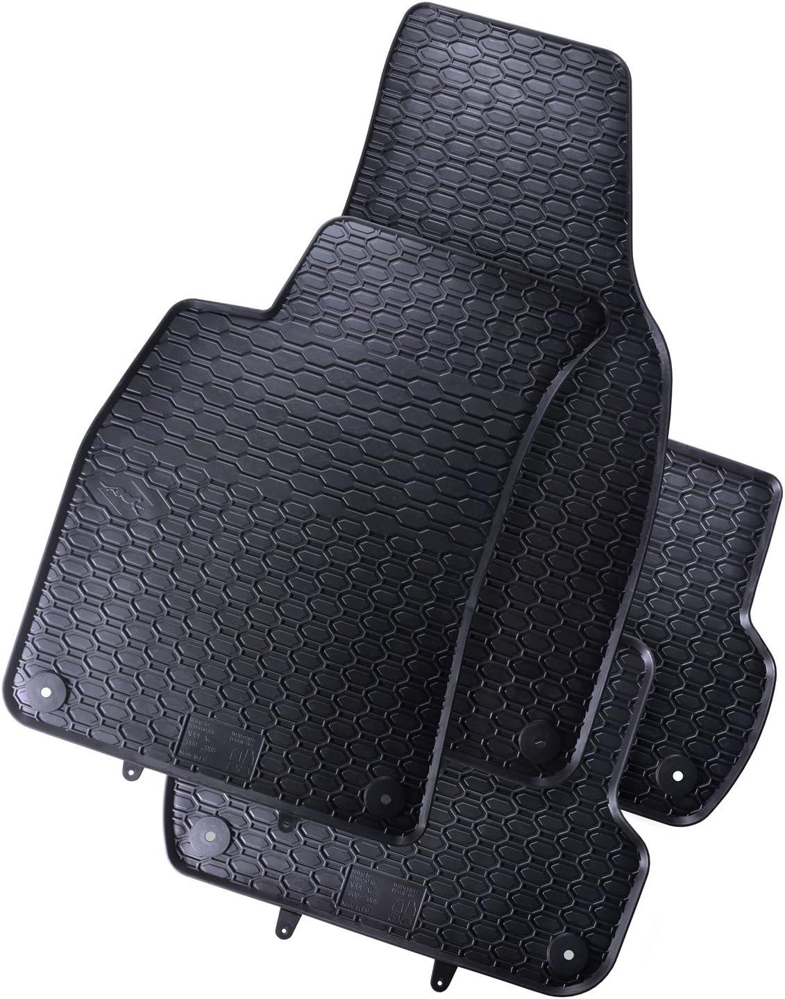 Tapis de sol caoutchouc sur mesure pour Audi A4 B7 2004-2007 4 pcs