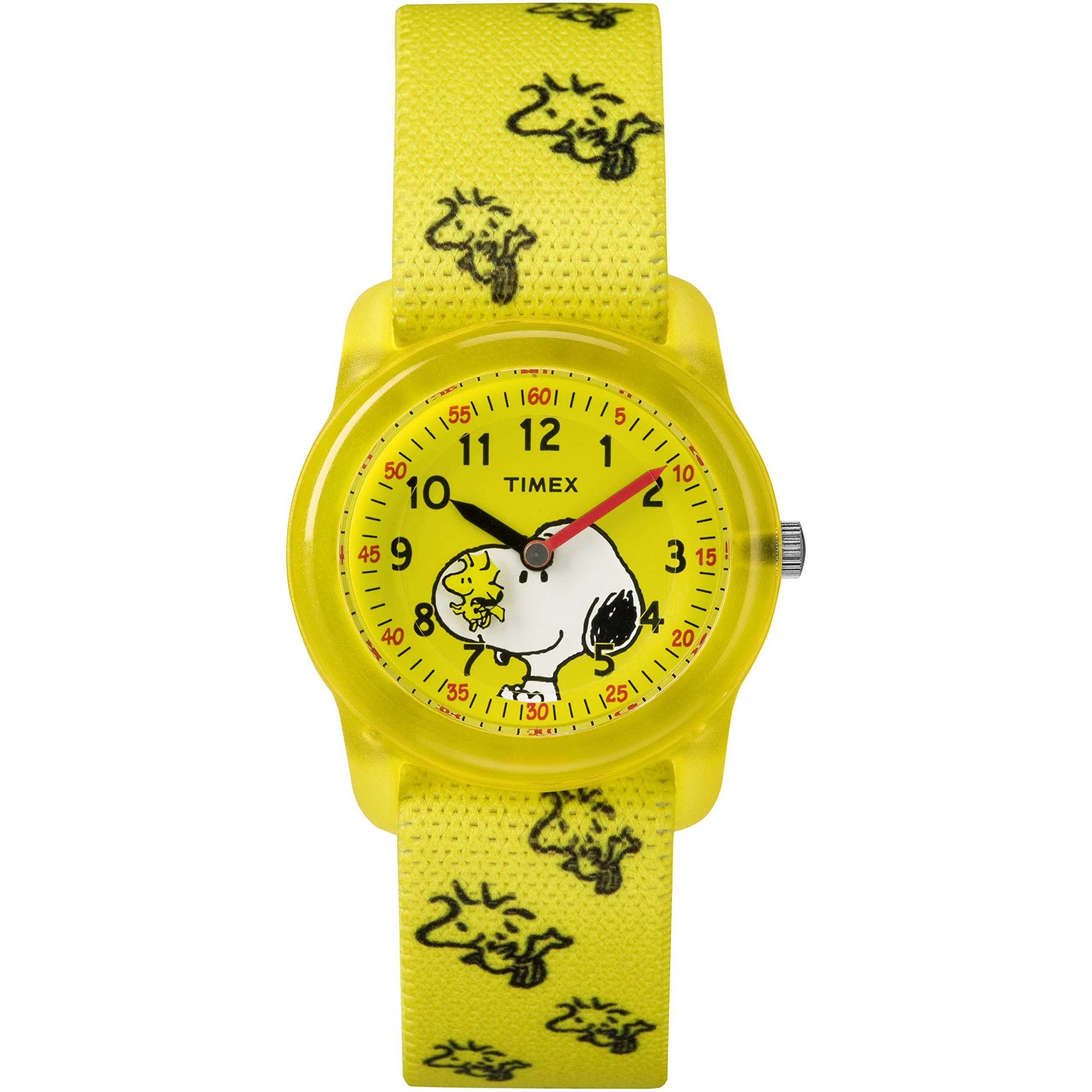 Timex Kids TW2R41500 Time Machines x Peanuts: Snoopy & Woodstock Elastic Fabric Strap Watch by Timex