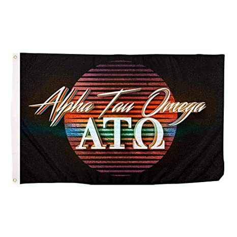 8988e803819 Amazon.com   Alpha Tau Omega 80 s Letter Fraternity Flag Banner 3 x 5 Feet  Sign Decor ATO   Garden   Outdoor