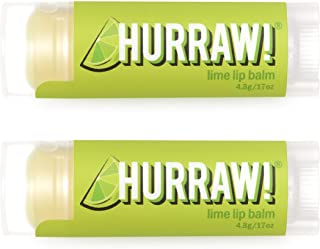 product image for Hurraw! Lime Lip Balm, 2 Pack: Organic, Certified Vegan, Cruelty and Gluten Free. Non-GMO, 100% Natural Ingredients. Bee, Shea, Soy and Palm Free. Made in USA