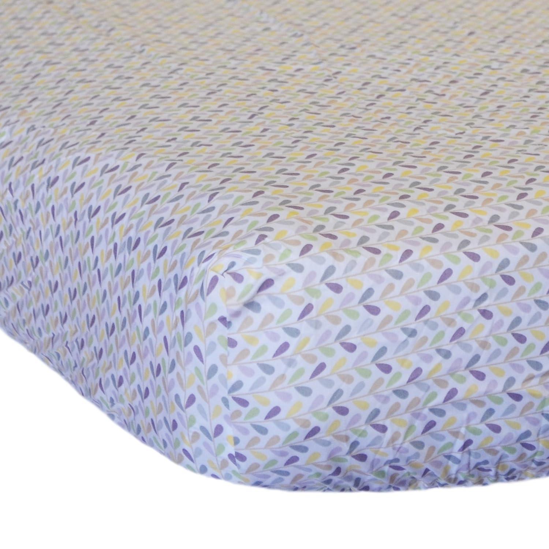 Wonder Bumpers Go Mama Go Designs, 100-Percent Cotton Love Petals Crib Sheet 718122140459