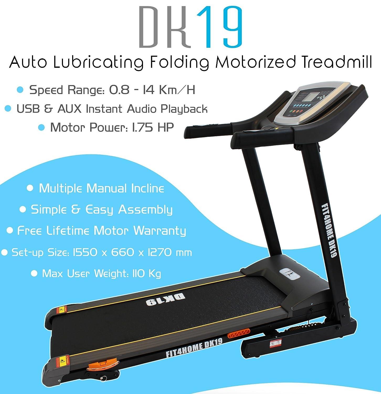 DK-19 Manual Incline Auto Lubricating Endeavour Treadmill: Amazon.co ...