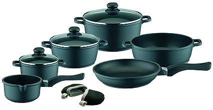 Buy Elo Black Die Cast Aluminum Kitchen Cookware Pots And