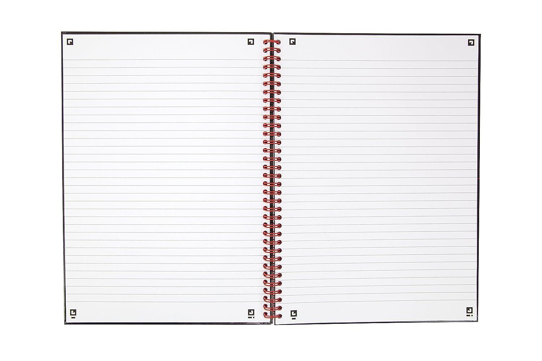 de 140 p/áginas Cuaderno A4 con encuadernaci/ón de Oxford Black n Red tapa dura y de color negro y rojo 3 unidades
