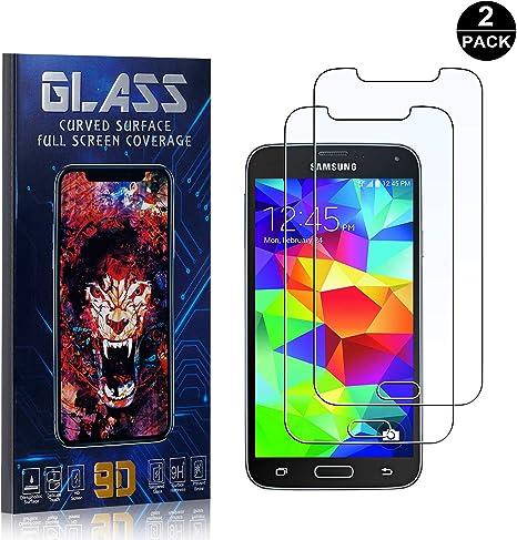 Bear Village® Protector de Pantalla Galaxy S5, 9H Cristal Templado ...