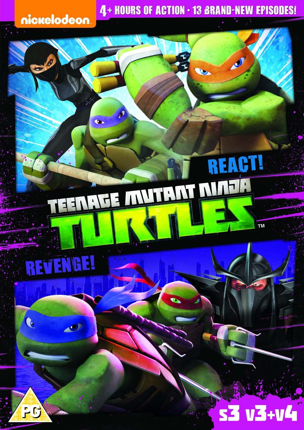 Amazon.com: Teenage Mutant Ninja Turtles – React & Revenge ...