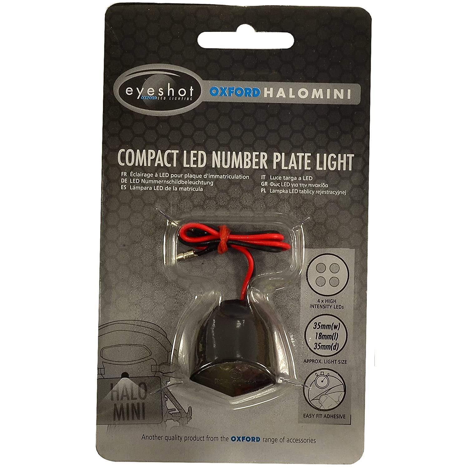 Oxford OX113 Halo Mini LED Number Plate Light Oxford Products Ltd.