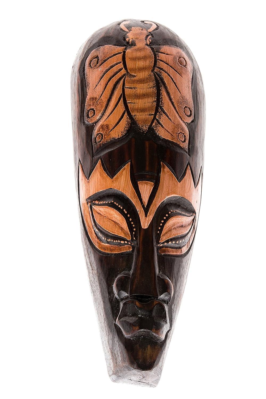 Ciffre 30cm Legno Maschera arazzo Scultura Farfalla HM3000041