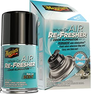 MEGUIAR'S G16402 Whole Air Re-Fresher Odor Eliminator Mist, New Car Scent, 1 Pack