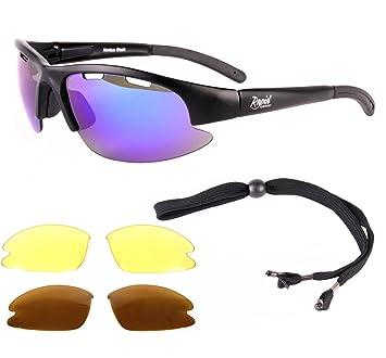 16ab9f4d79 Nimbus FT TR90 - Gafas de sol para deporte (lentes de color azul  polarizadas intercambiabales, protección UV), color negro: Amazon.es:  Deportes y aire libre
