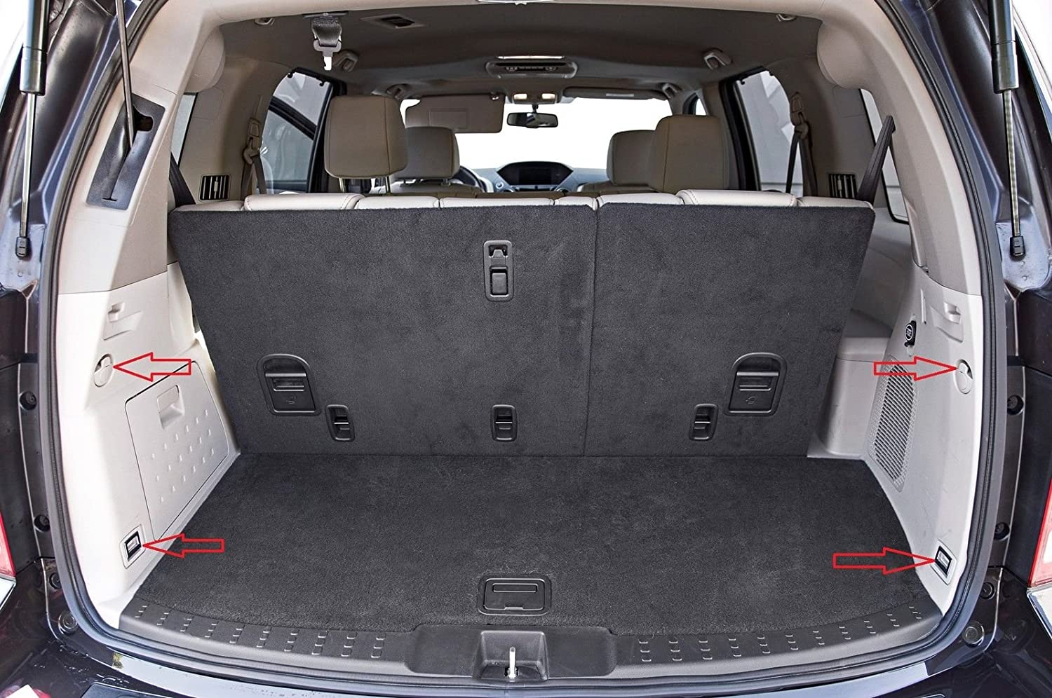 Amazon com envelope style trunk cargo net for honda pilot 2003 2015 new automotive
