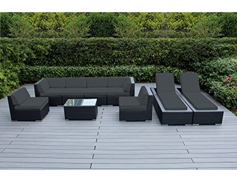 Genuine Ohana Outdoor Sectional Sofa And Chaise Lounge Set (9 Pc Set) With  Free
