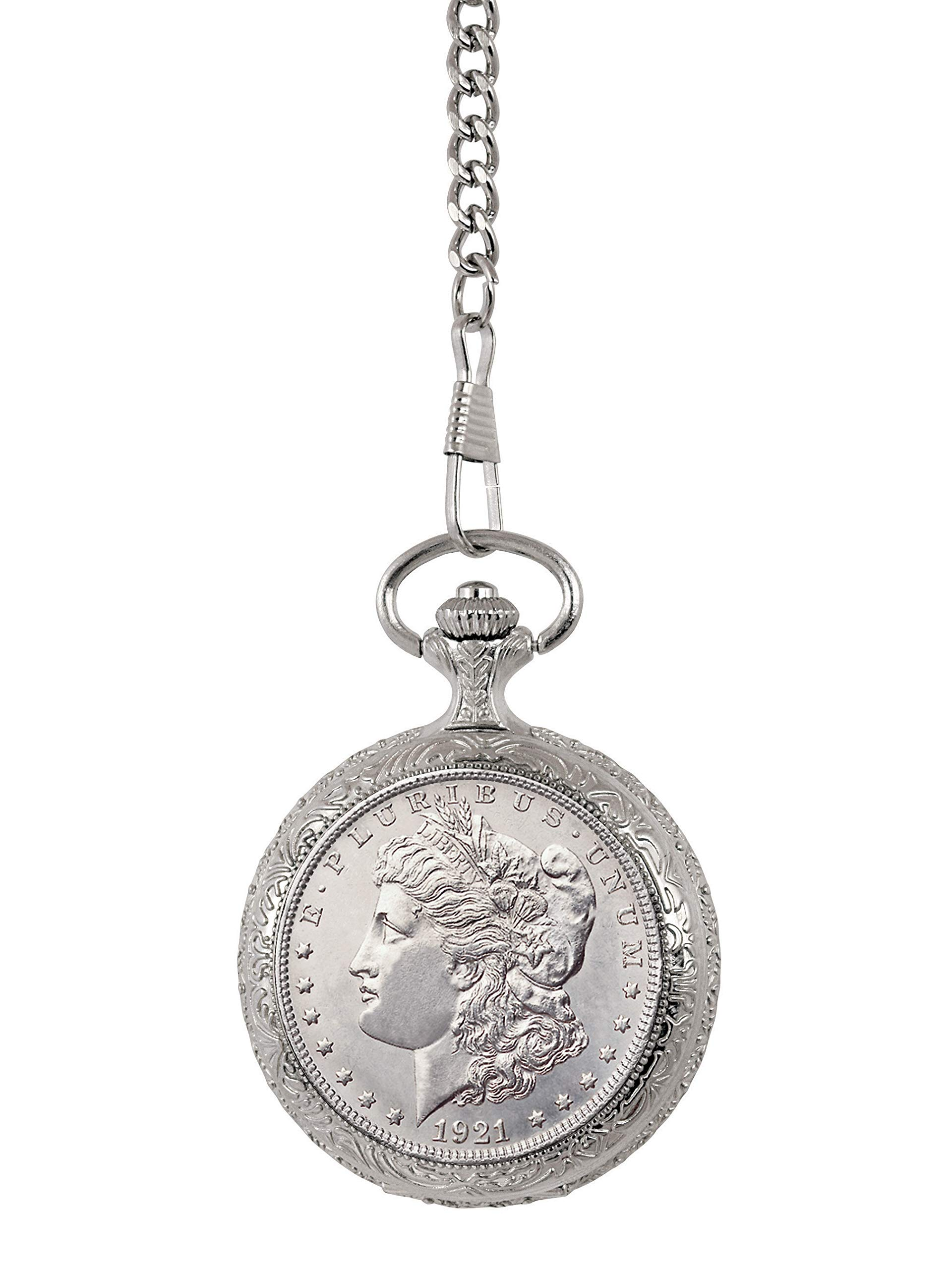 Brilliant Uncirculated Morgan Silver Dollar Pocket Watch
