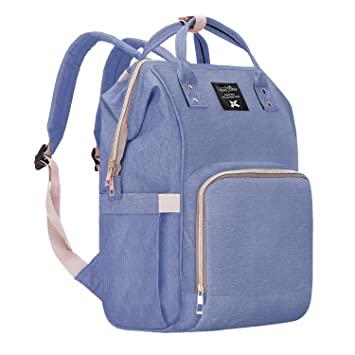 1b39128fc Amazon.com : Diaper Bag Multi-Function Travel Backpack Nappy Bags for Baby  Care, Large Capacity, Stylish and Durable, Waterproof, Mom Bag by Lifecolor  (Blue ...