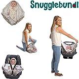 Snugglebundl The Baby Blanket with Handles (Grey Star)