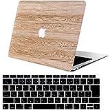 AOGGY最新MacBook Air 13インチケース 2018年発売モデル:タッチID付きA1932(Retinaディスプレイ) - [黄色の木柄シリーズ] Apple Macbook Air 13用プラスチックコーティングPC保護ハードケースカバー、- RMW-8