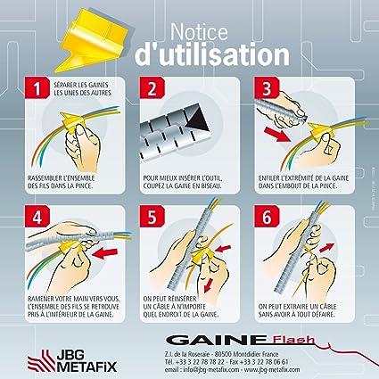 Diam/ètre 20 mm Longueur: 1,5 m Gaine Range C/âbles Couleur: Silver Gaine Flash Gaine Flash