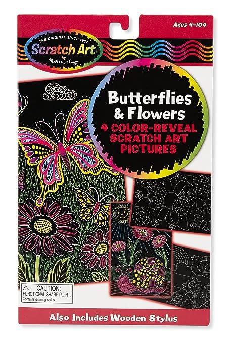 Melissa Doug Scratch Art Activity Kit Butterflies And Flowers
