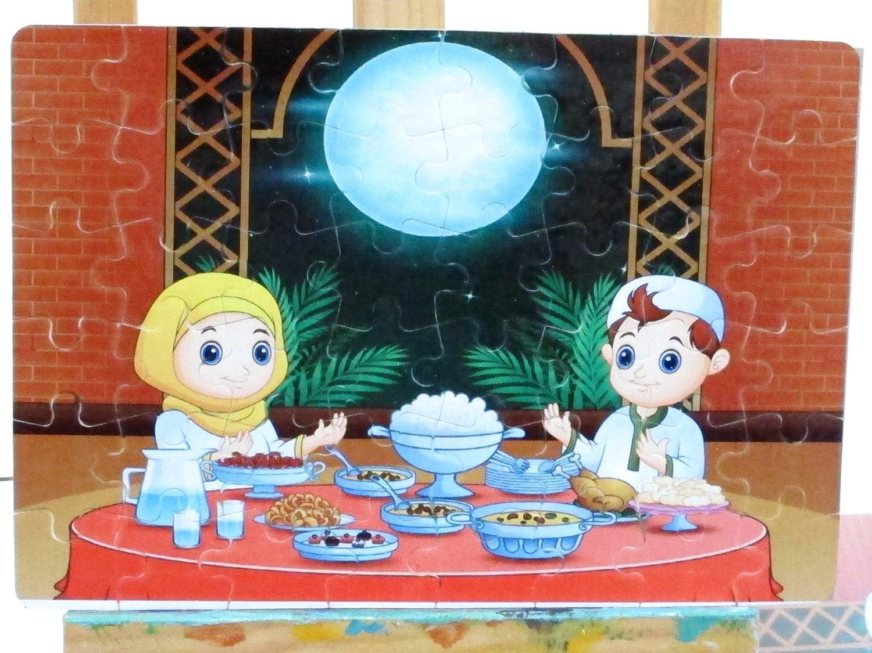 Islamic Puzzles Islamic toys Ramadan children games Islamic gifts Eid Puzzle Eid gift Ramadan puzzle Muslim Kids gift Ramadan toys رمضان Islamic teachings