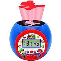 Lexibook Projector Wekker Nintendo Super Mario & Luigi - Alarm met snooze, Nachtlampje met timer, LCD-scherm, Werkt op…