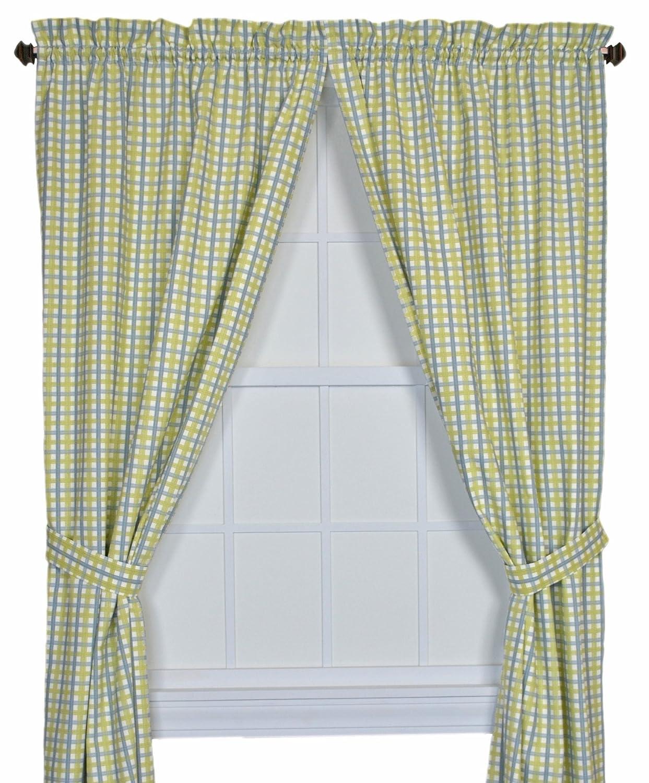 Charlestown Check Bradford Valance Window Curtain Patriot Ellis Curtain 730462590572