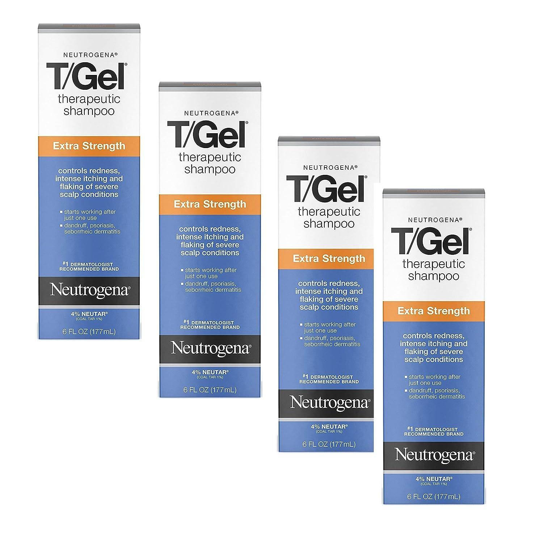 Neutrogena T/Gel Extra Strong Shampoo 6.0 (Quantity of 4)
