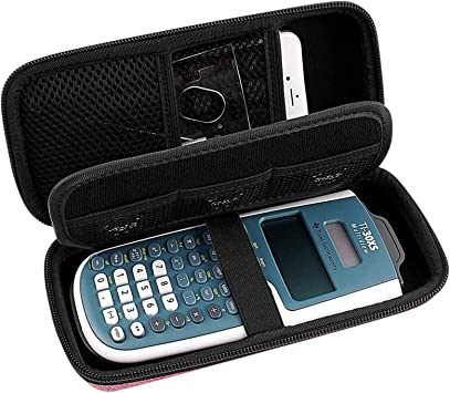Travel Case for Texas Instruments TI-30XS / TI-36X Pro Engineering Multiview Scientific Calculator -Red