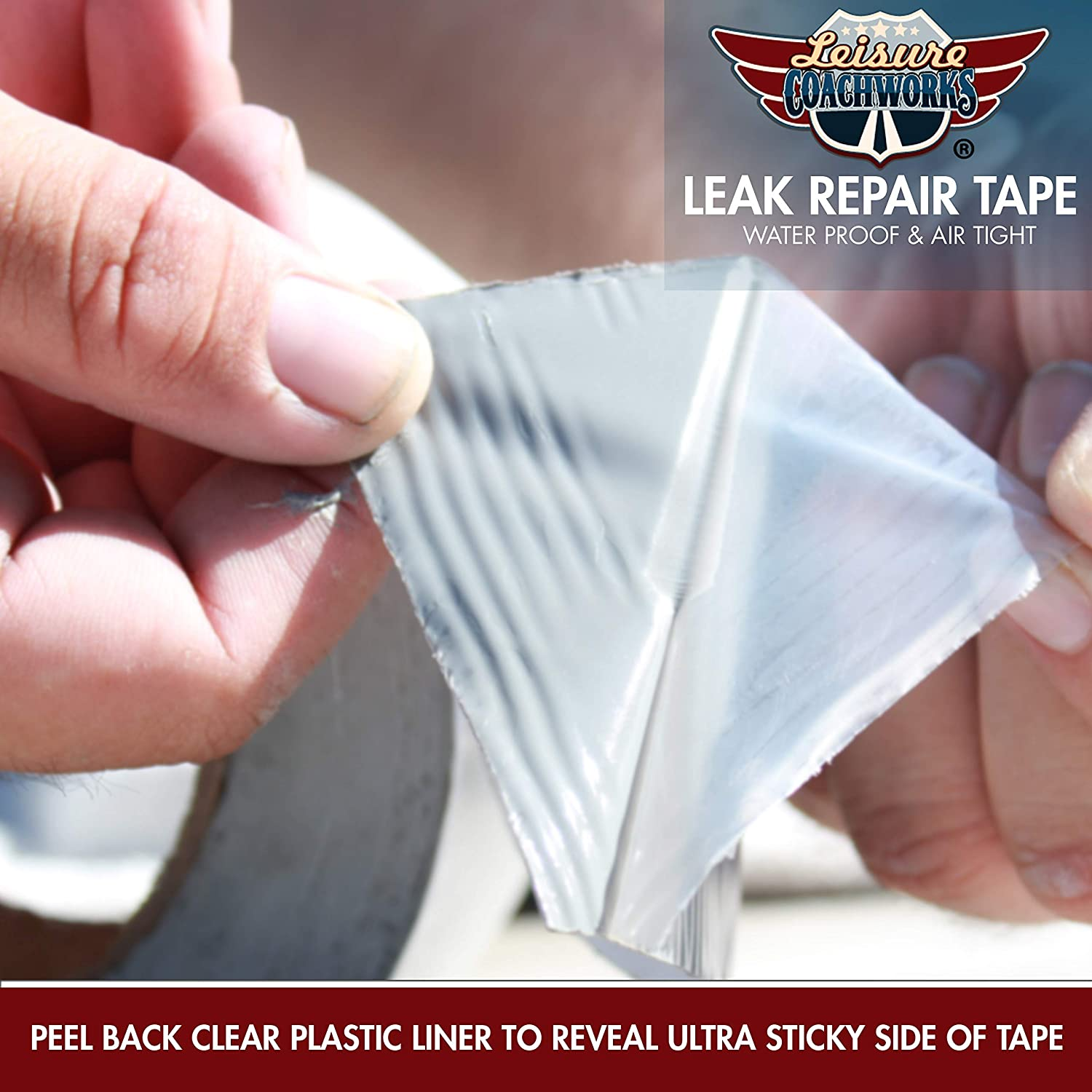 Boat Sealing Camper Roof Leaks Leisure Coachworks RV Sealant Tape 50 Foot 2 Tape Window 2 Inch x 50 Foot RV White Roof Seal Tape UV /& Weatherproof Sealant Roofing Tape for RV Repair