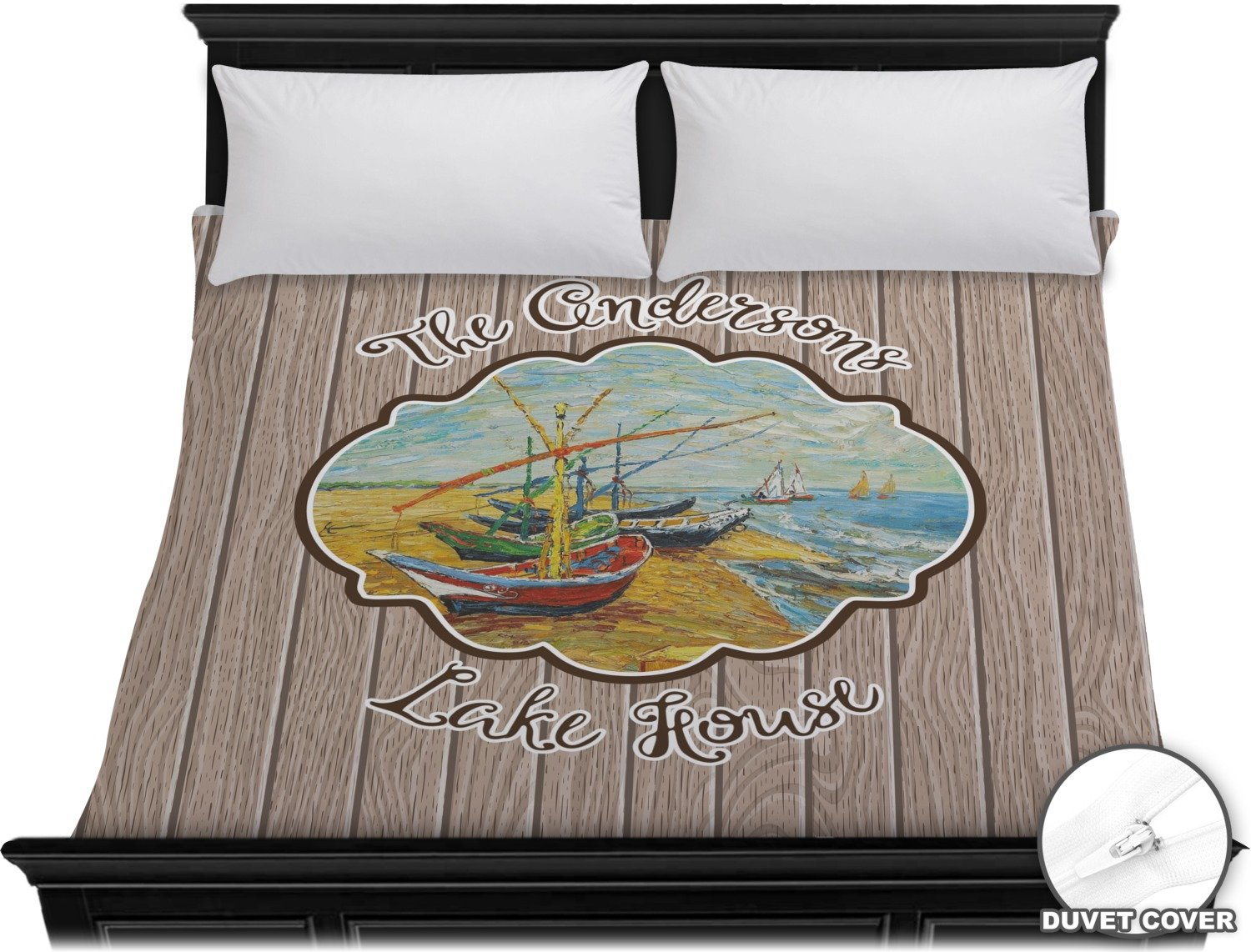 Lake House King Duvet Cover