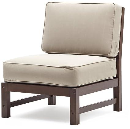 Merveilleux Strathwood Anderson Hardwood Sectional, Armless Chair