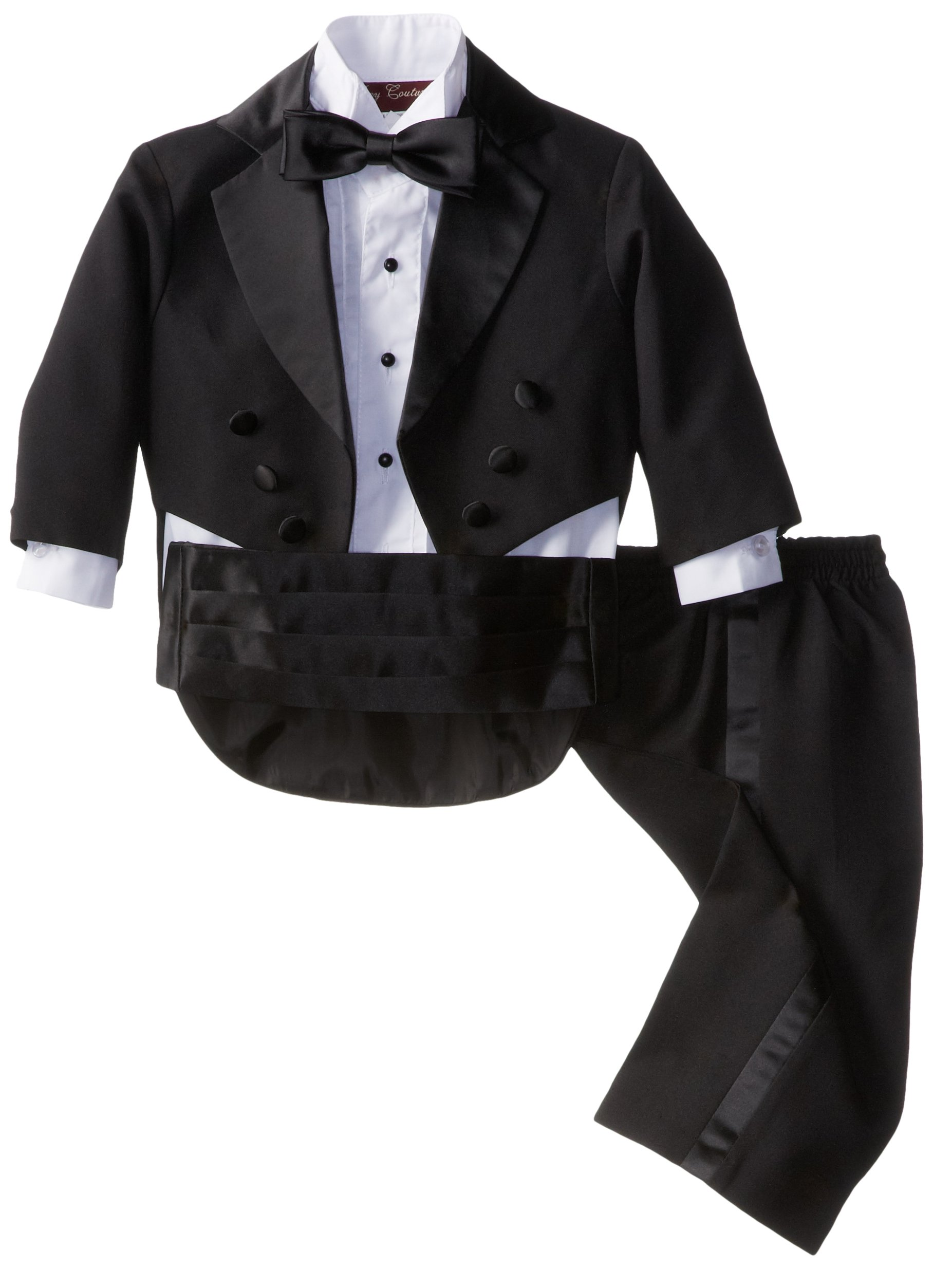Joey Couture Baby Boys' Tuxedo Suit Tail, Black, 18 Months/Large by Joey Couture