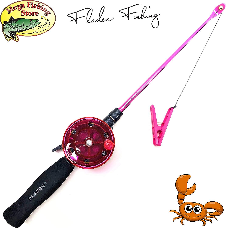 Color Negro Mega Fishing Cangrejo para ni/ños Verde y Rosa 40 cm