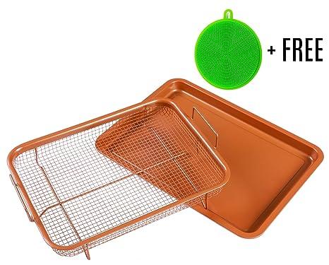 Cobre Crisping Bandeja/cesta de la freidora de aire en basicndaily – Chef 360 °